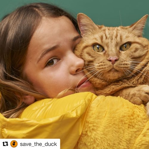 girl&cat from save the duck